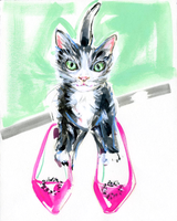 A Kitty Named Manolo Print