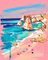 Mediterranean Summer Stretched Canvas