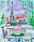 Paris au Printemps Stretched Canvas