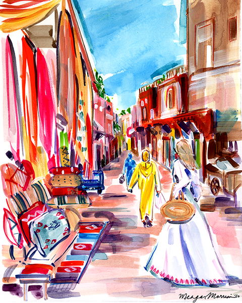 The Marrakech Medina Print