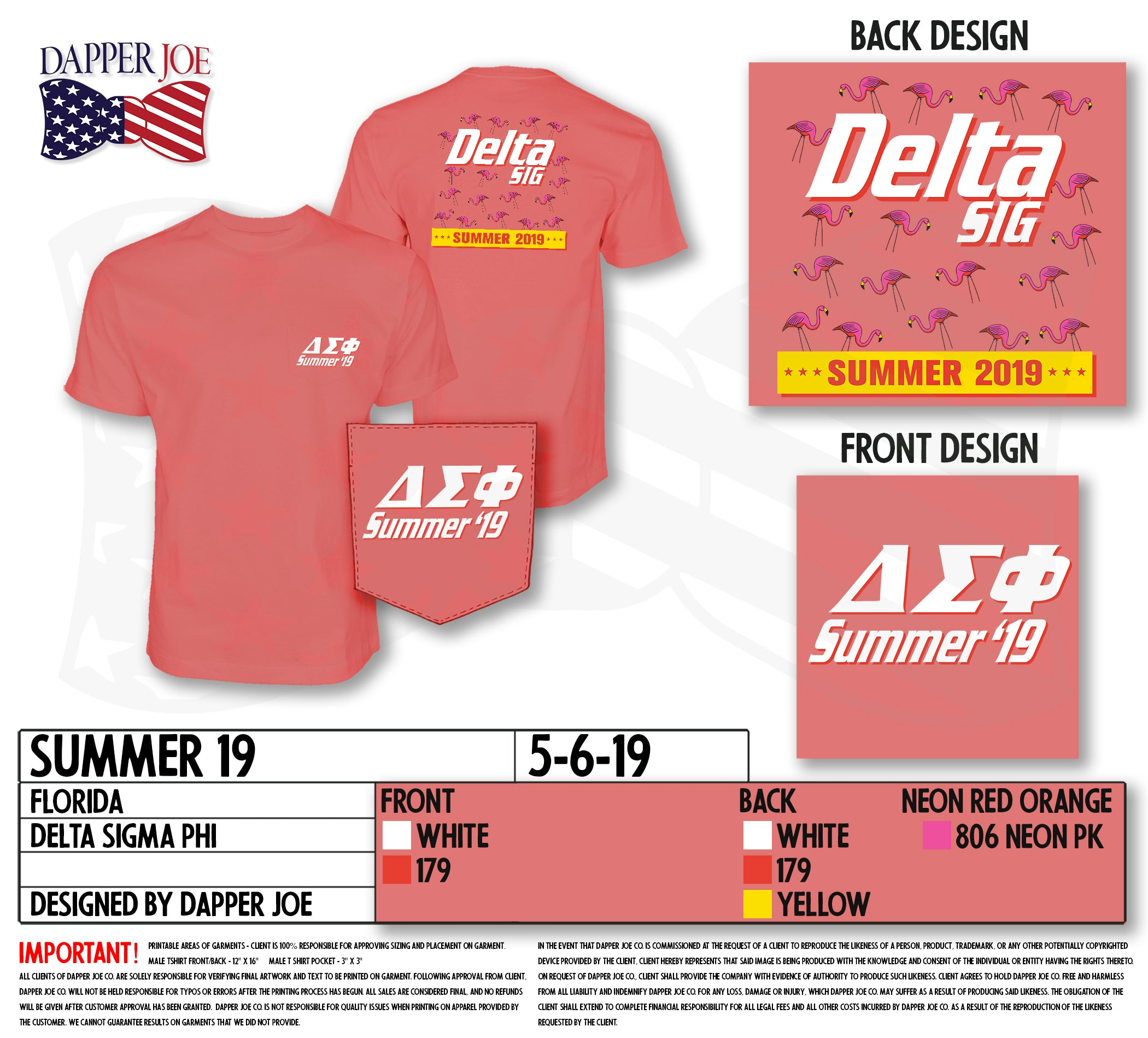University of Florida - Delta Sigma Phi - Summer Shirt
