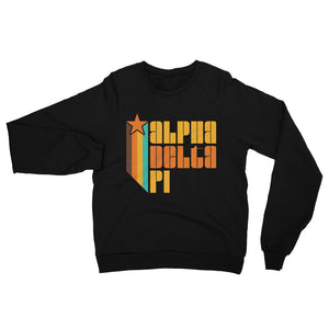 Retro Alpha Delta Pi California Fleece Raglan Sweatshirt