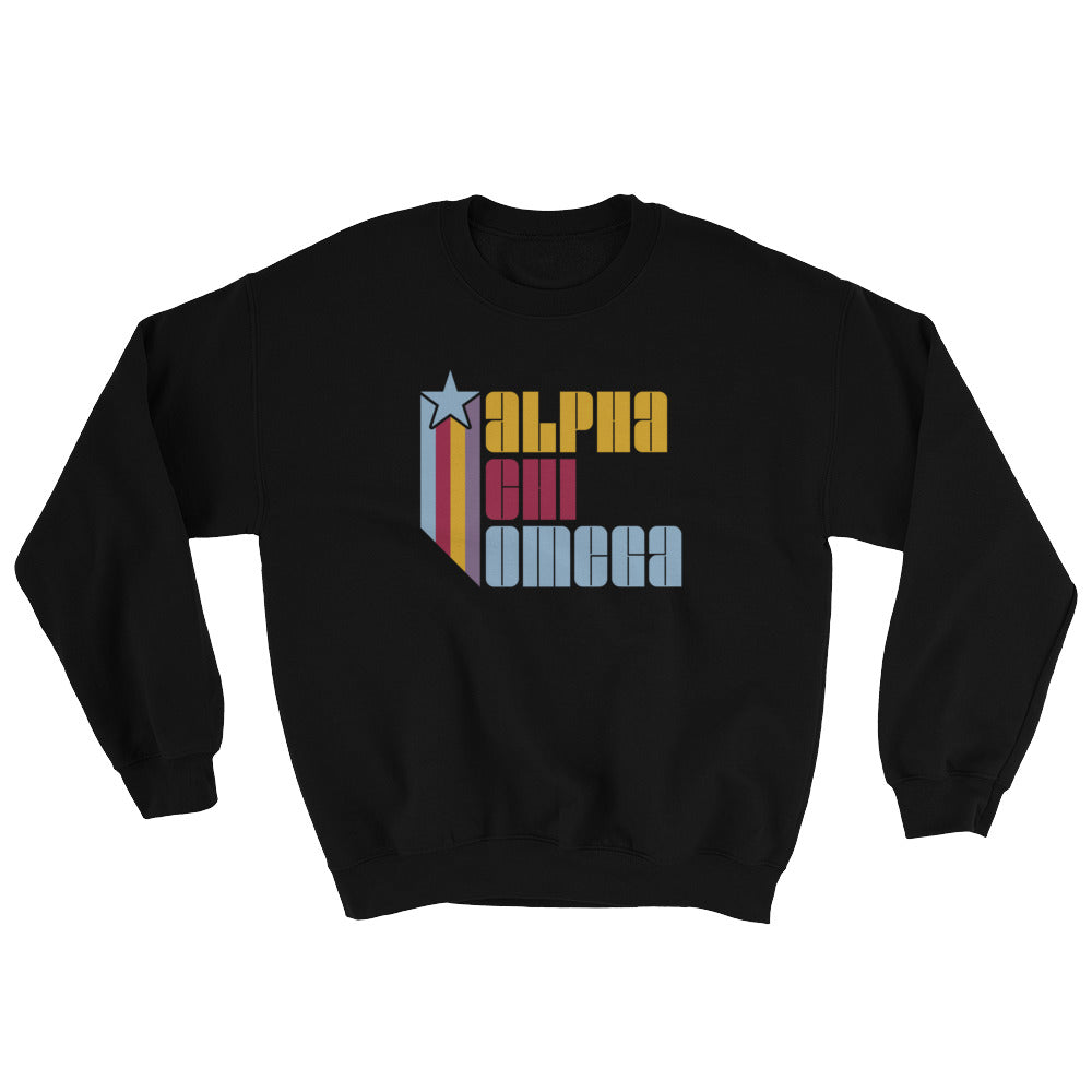 Alpha Chi Omega Retro COLOR Sweatshirt