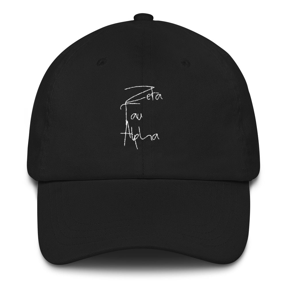 Zeta Tau Alpha Scripted Dad hat