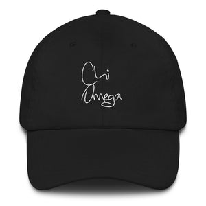 Chi Omega Scripted Dad hat