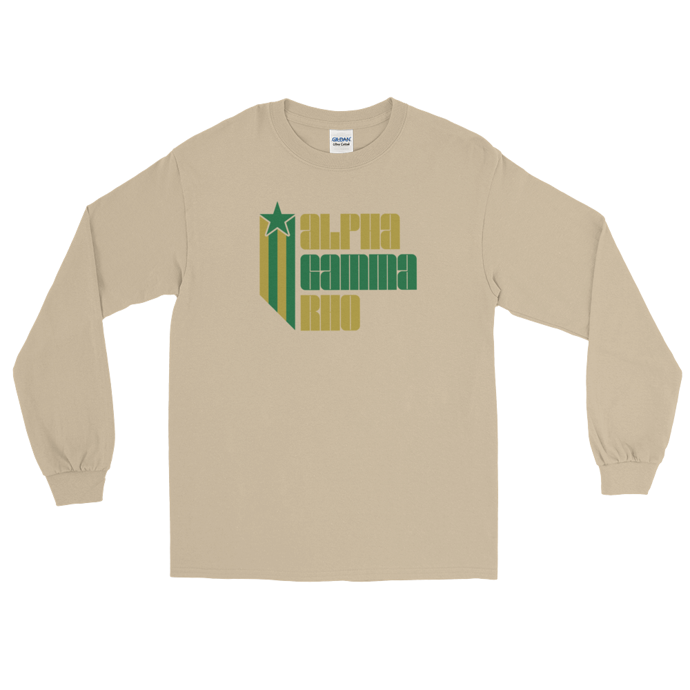 Alpha Gamma Rho Retro COLOR Long Sleeve T-Shirt