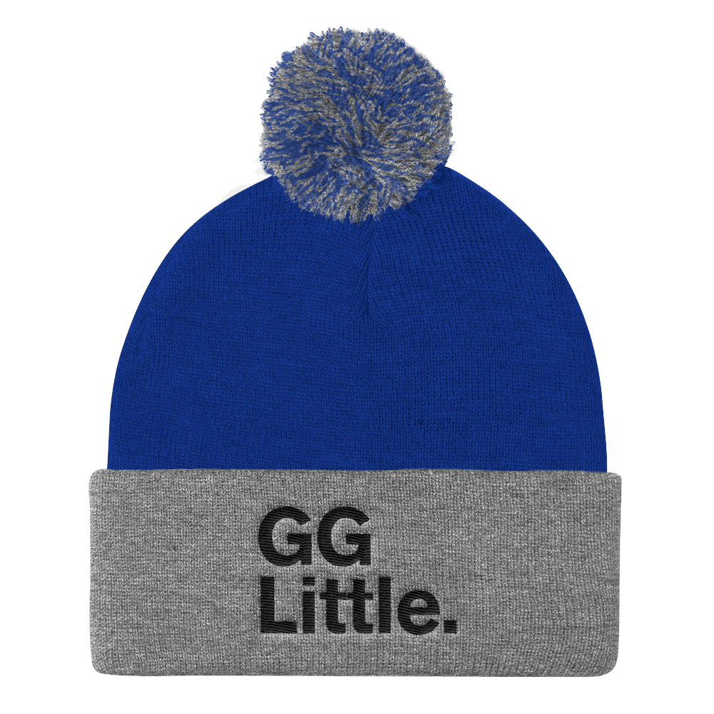 """GG Little."" Pom Pom Knit Cap"