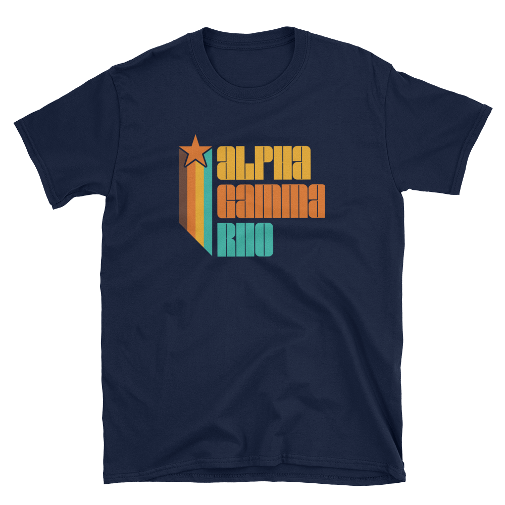 Alpha Gamma Rho Retro Short-Sleeve T-Shirt
