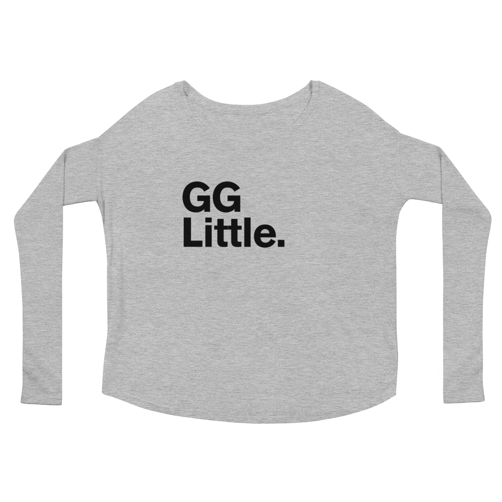 """GG Little."" Ladies' Long Sleeve Scoop Neck Tee"