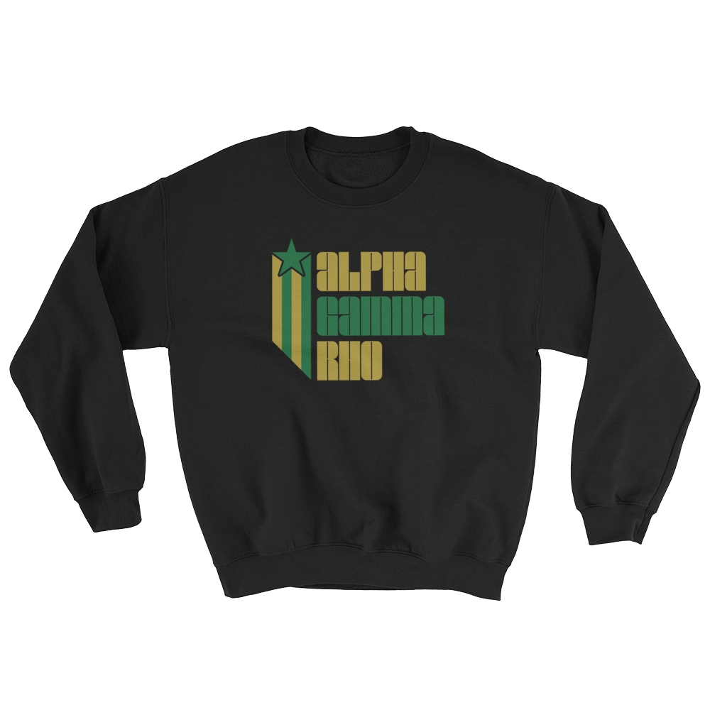 Alpha Gamma Rho Retro COLOR Sweatshirt
