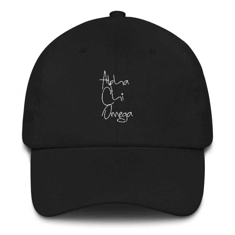 Alpha Chi Omega Scripted Dad hat