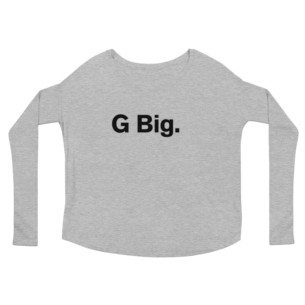 """G Big."" Ladies' Long Sleeve Swoop Neck Tee"