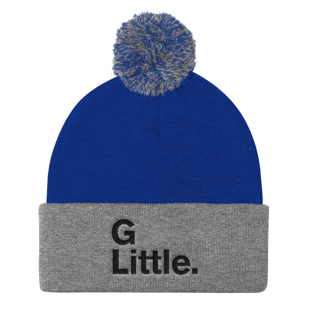 """G Little."" Pom Pom Knit Cap"