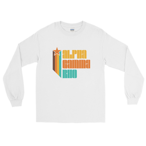 Alpha Gamma Rho Retro Long Sleeve T-Shirt