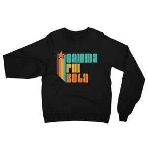 Retro Gamma Phi Beta California Fleece Raglan Sweatshirt