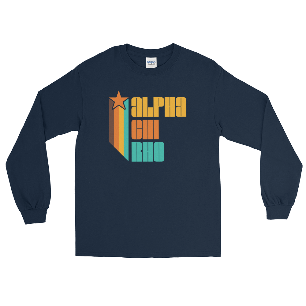 Alpha Chi Rho Retro Long Sleeve T-shirt