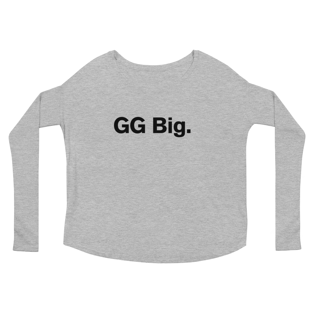 """GG Big."" Ladies' Long Sleeve Swoop Neck Tee"