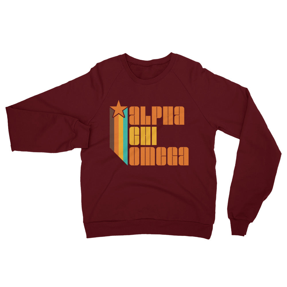 Retro Alpha Chi Omega California Fleece Raglan Sweatshirt