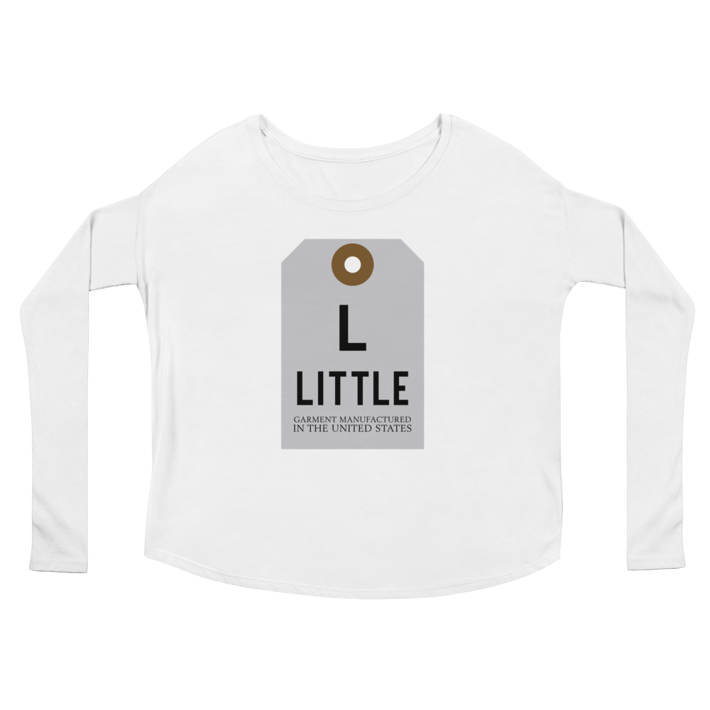 Little Tag Ladies' Long Sleeve Scoop Neck Tee