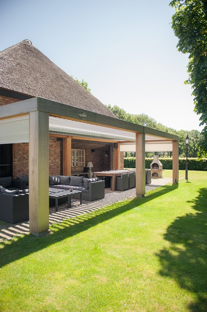 Can I Have A Wooden Frame With A Louvretec Opening Roof