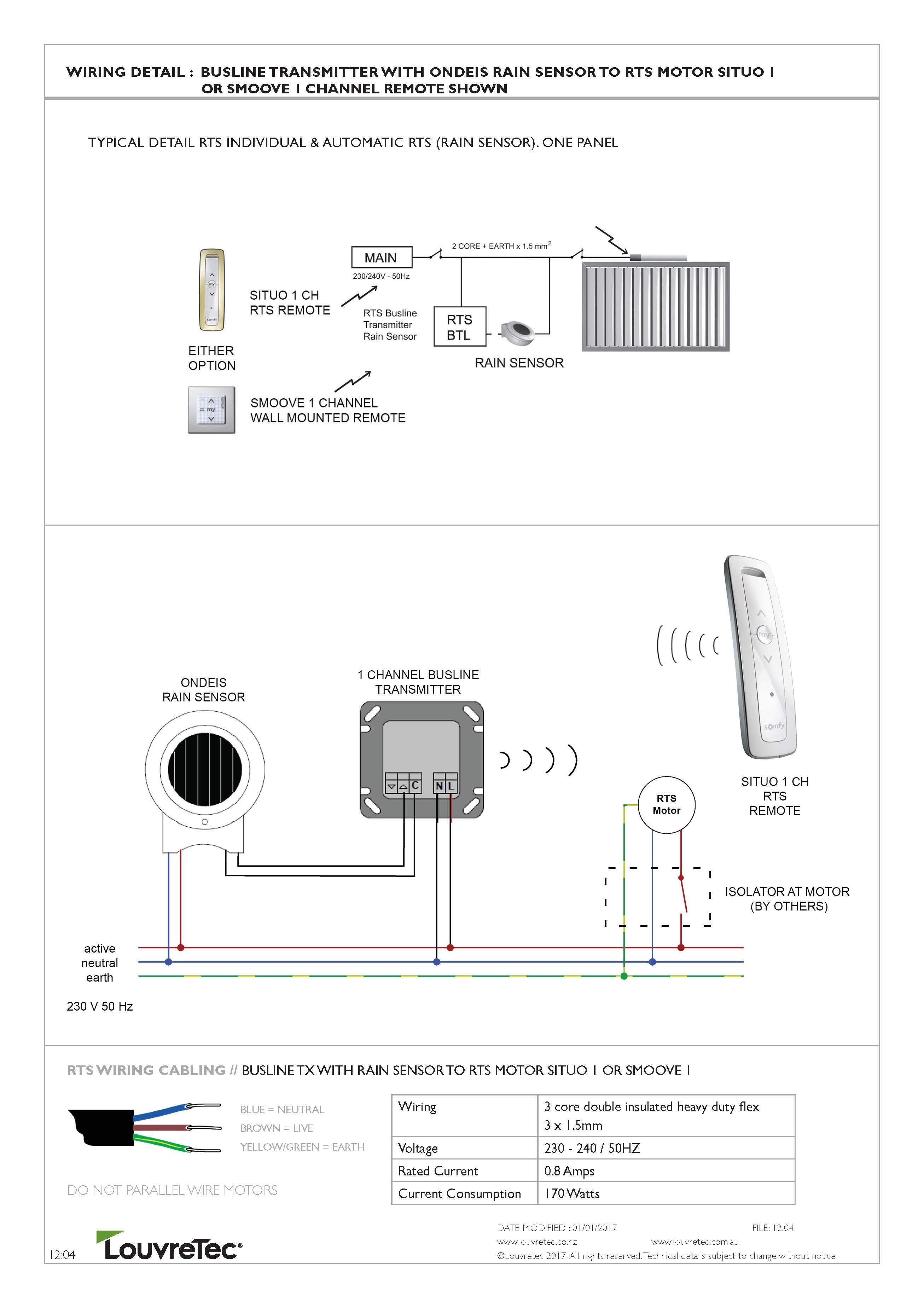 Somfy Rts Wiring Diagram Reinvent Your Telephone Technical Diagrams Louvretec Australia Rh Com Au Cable Tester Motor