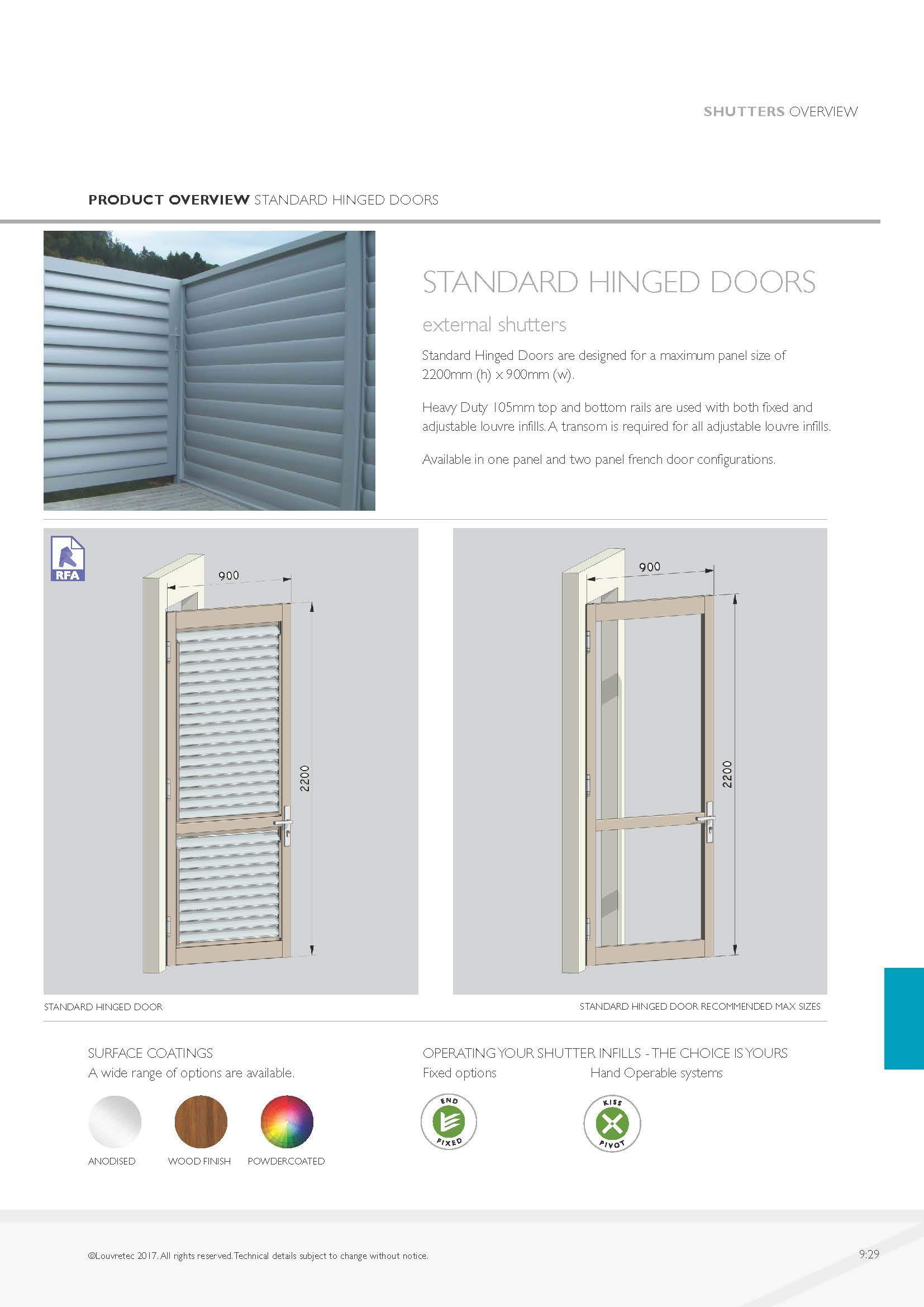 Standard Hinged Doors  9.29
