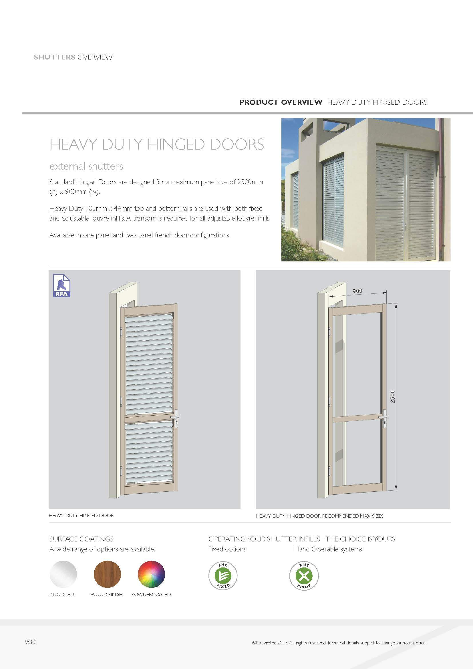 Heavy Duty Hinged Doors 9.30