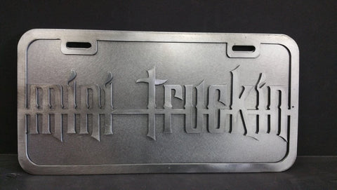 Mini Truckin License Plate