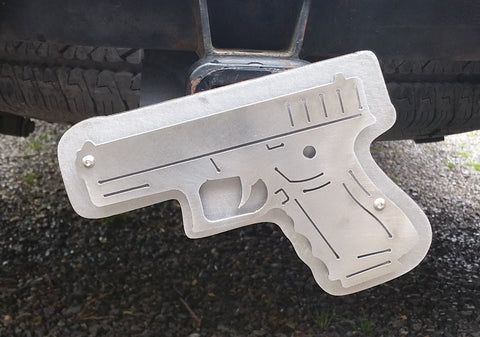 Pistol Trailer Hitch Cover