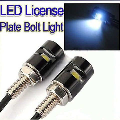 LED License Plate Bolt Lights