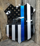 Blue Line Police Badge