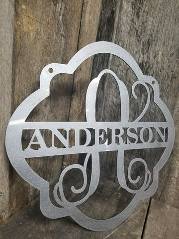 Monogram Name Sign