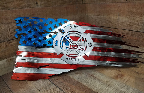 Fire and Rescue  Battle Flag