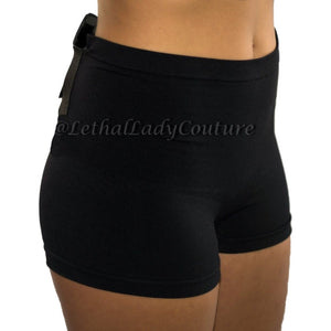 Plus Size Black Concealed Carry Slimming Boy Shorts