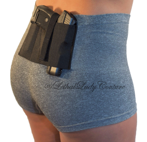 Gray Slimming Concealed Carry Boy Shorts