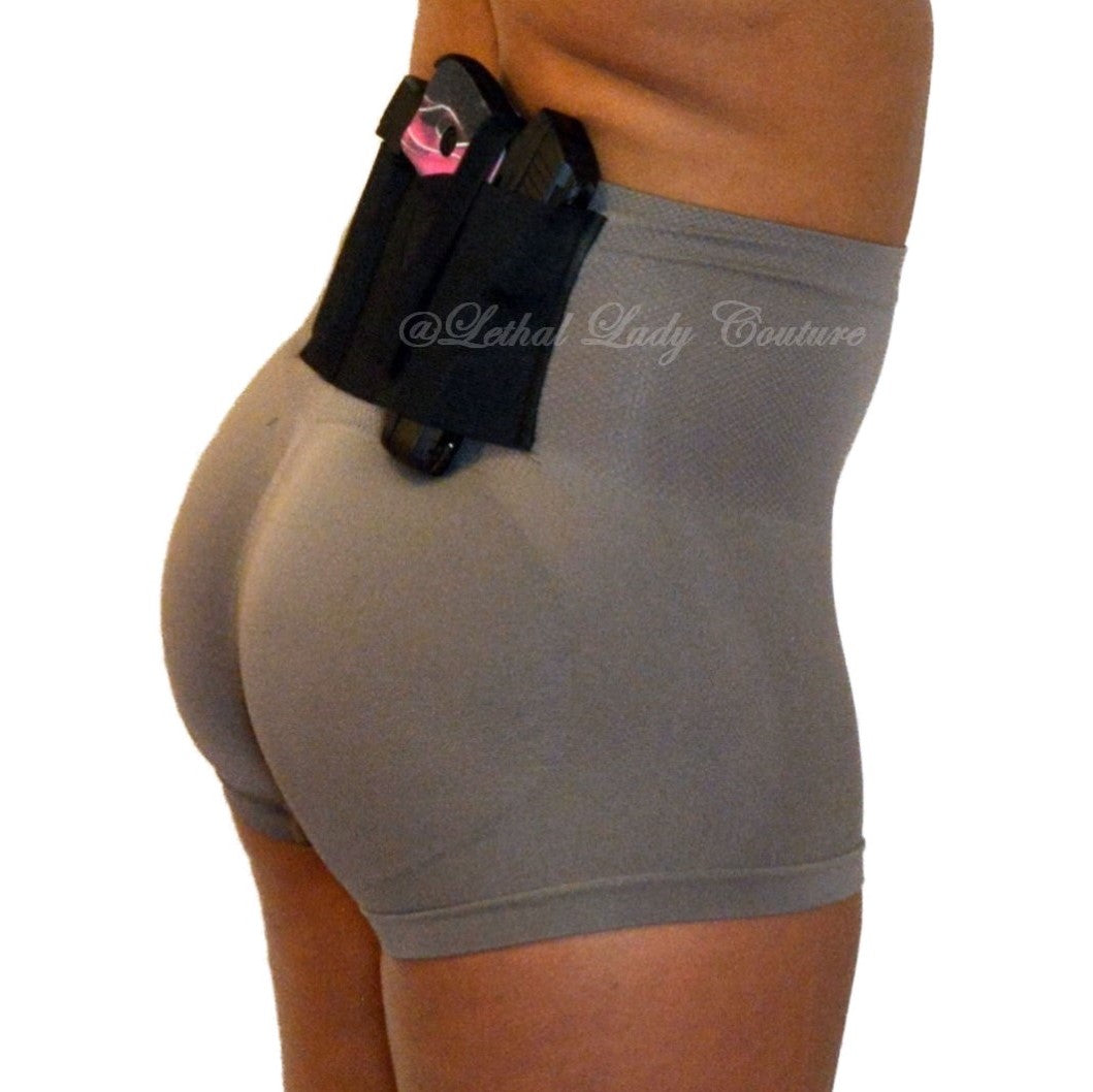Taupe Defining Concealed Carry Boy Shorts