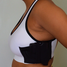 Women's Concealed Carry White Sports Bra with Gun Holster