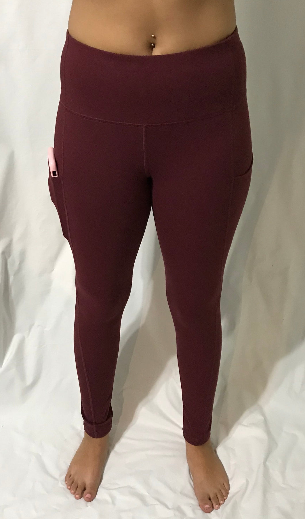 Women's Concealed Carry Burgundy Leggings