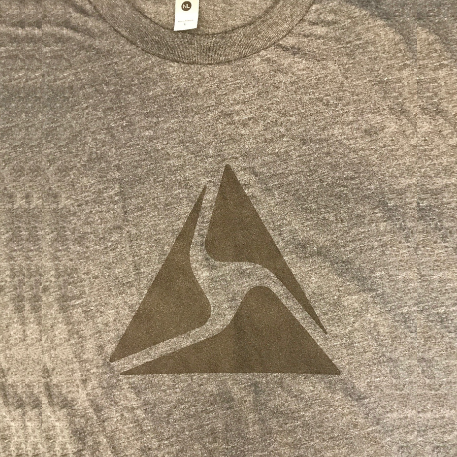 Axon T-shirt, Black Logo on Gray