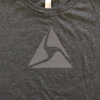 Axon T-shirt, Gray Logo on Gray