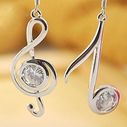 GORGEOUS MUSICAL NOTES DANGLE EARRINGS