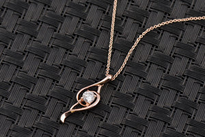 Musical Waterdrop Necklace With Cubic Zirconia