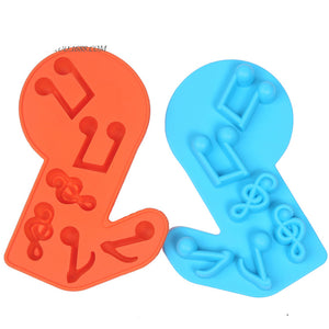 Music Notes Shapes Silicone Cake Molds