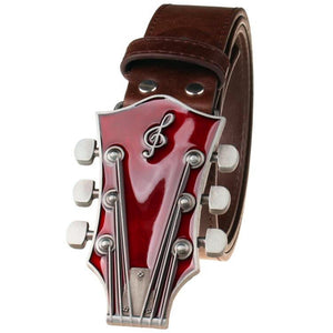 Retro guitar leather belt