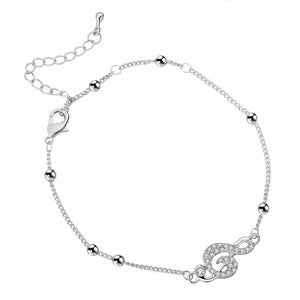 MUSICAL NOTES CRYSTAL ANKLET