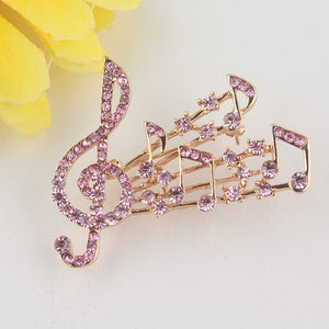 Musical Notes Brooch Pin