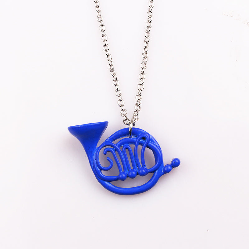 Blue French Horn Necklace