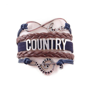 HANDMADE INFINITY LOVE FOR COUNTRY MUSIC BRACELET