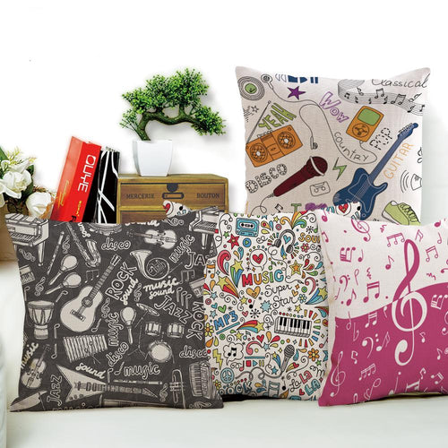 Musical Notes Cushion Covers