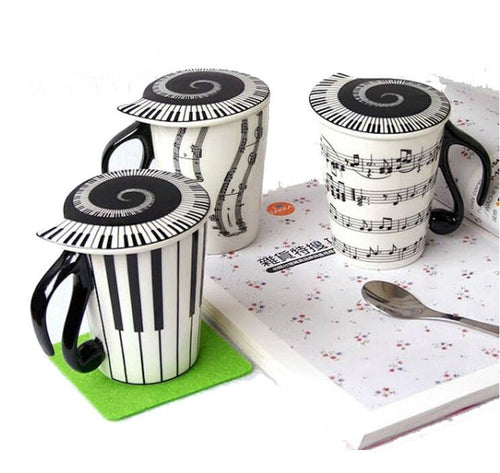 Piano Keyboard Ceramic Mug